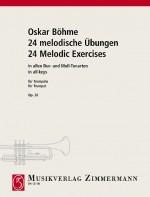 24 melodische Übungen in allen Dur- und Moll-Tonarten